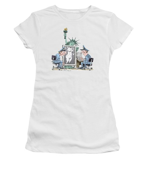 Airport Security And Liberty Women's T-Shirt