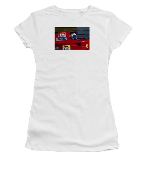 Alain Prost. 1990 French Grand Prix Women's T-Shirt (Athletic Fit)