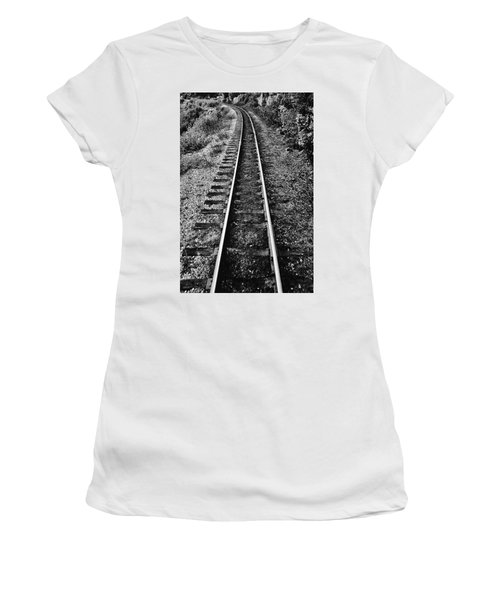 Alaska Tracks Women's T-Shirt (Athletic Fit)