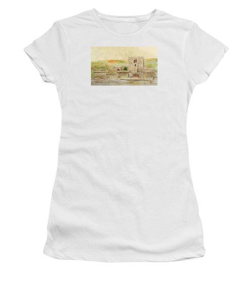 Alcazaba Of Almeria Women's T-Shirt (Junior Cut) by Angeles M Pomata