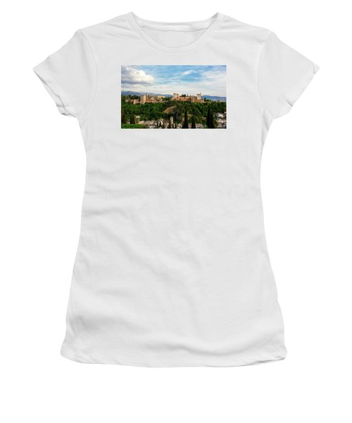 Alhambra In The Evening Women's T-Shirt (Junior Cut) by Marion McCristall