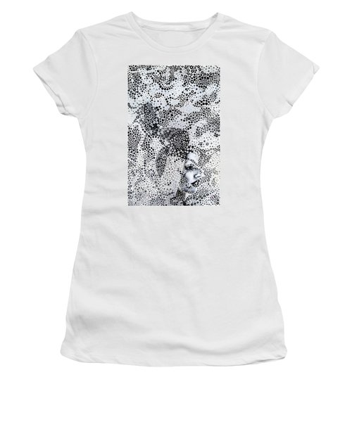 Women's T-Shirt (Athletic Fit) featuring the mixed media Alice In Wonderland by Maria Lankina