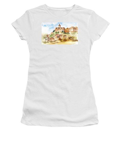 Alice's Castle Women's T-Shirt (Junior Cut) by Anne Duke