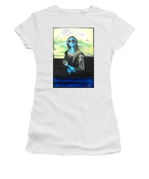 alien Mona Lisa Women's T-Shirt