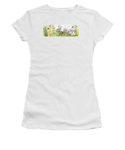 Alive In A Spring Garden Women's T-Shirt (Athletic Fit)