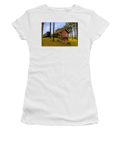 All Aboard Women's T-Shirt (Junior Cut) by Judy Johnson