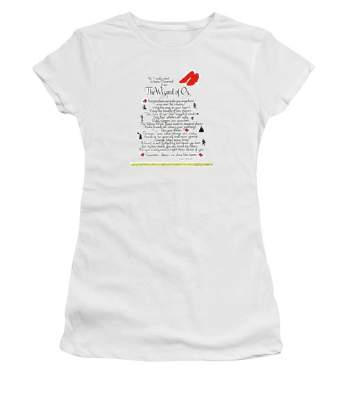 All I Need To Know I Learned From The Wizard Of Oz Women's T-Shirt (Athletic Fit)