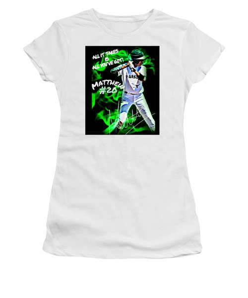 Women's T-Shirt (Junior Cut) featuring the photograph All It Takes Matthew by Linda Cox