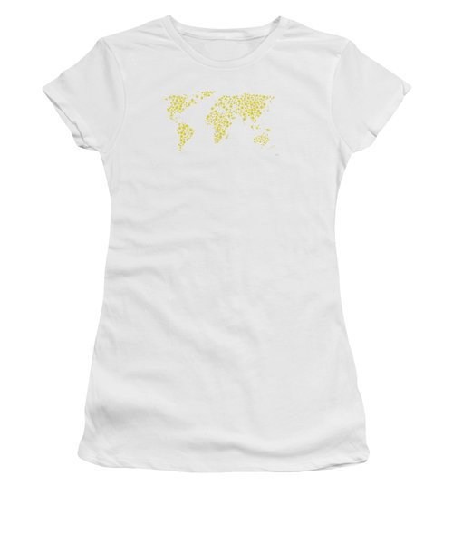 All The World Plays Tennis Women's T-Shirt (Athletic Fit)