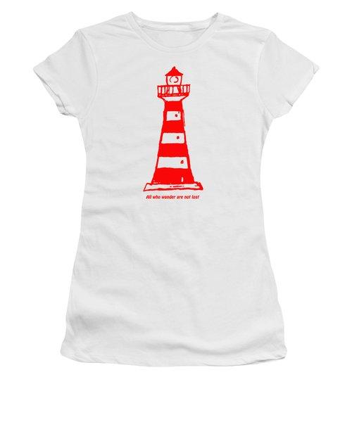 All Who Wander Women's T-Shirt (Junior Cut) by Gillian Singleton