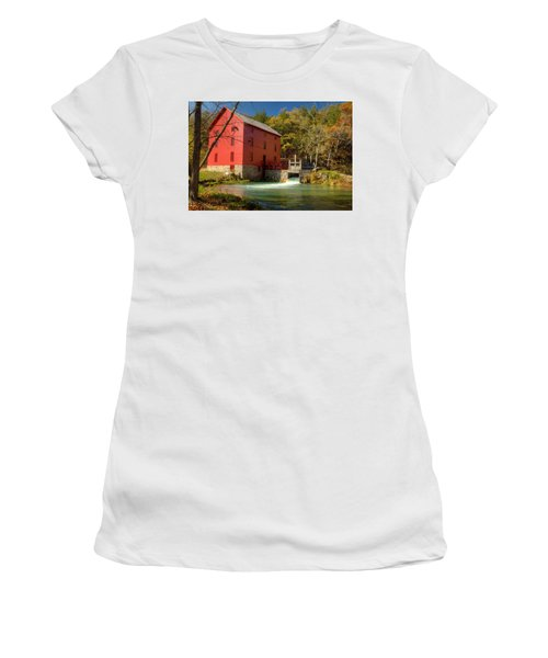 Women's T-Shirt (Junior Cut) featuring the photograph Alley Mill by Harold Rau