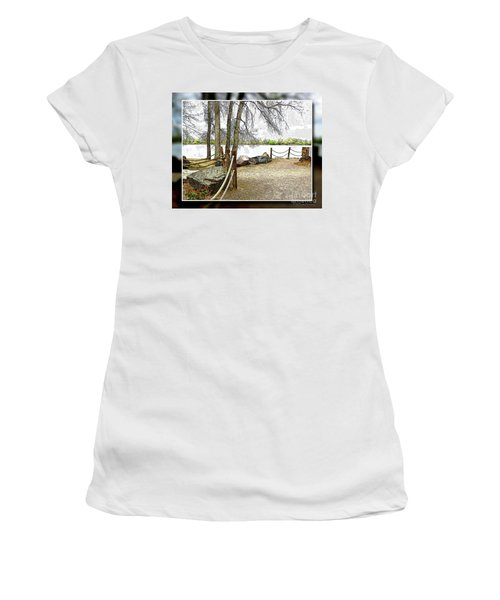 Almost Spring At Lafayette Lake Women's T-Shirt (Athletic Fit)