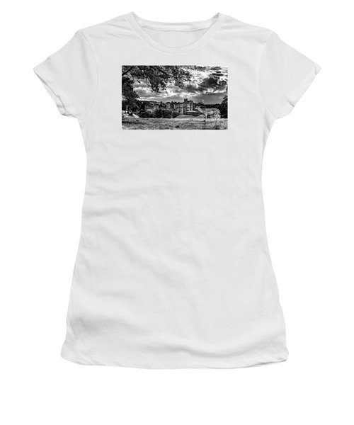 Alnwick Castle And Fallow Deer Women's T-Shirt