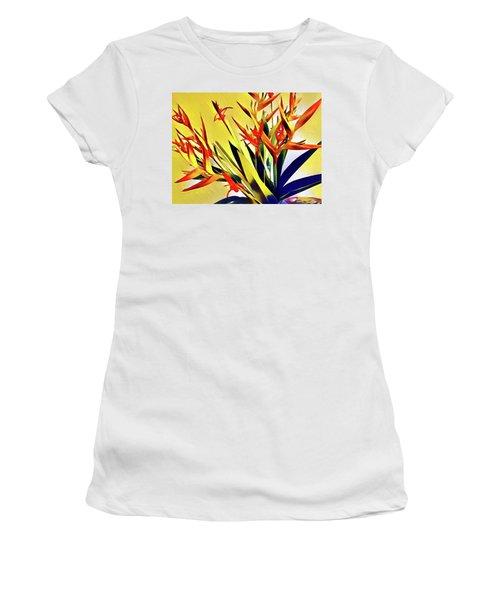 Aloha Bouquet Of The Day - Halyconia Birds In Orange Women's T-Shirt