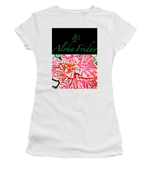 Aloha Friday T-shirt Women's T-Shirt (Junior Cut) by James Temple