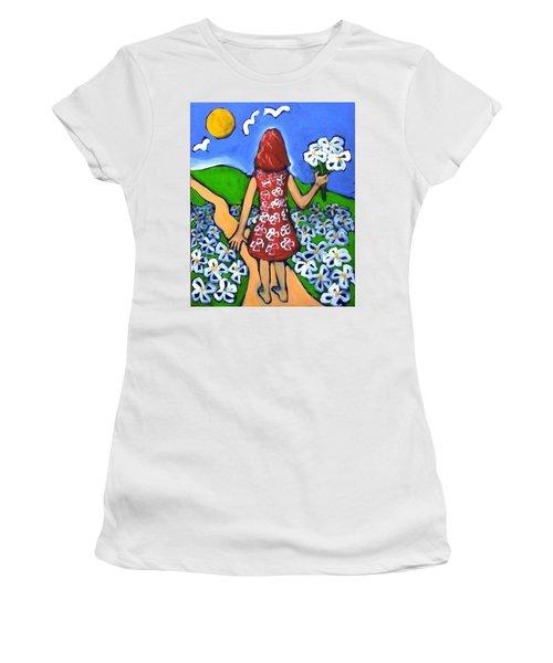 Along The New Path Women's T-Shirt (Junior Cut) by Winsome Gunning