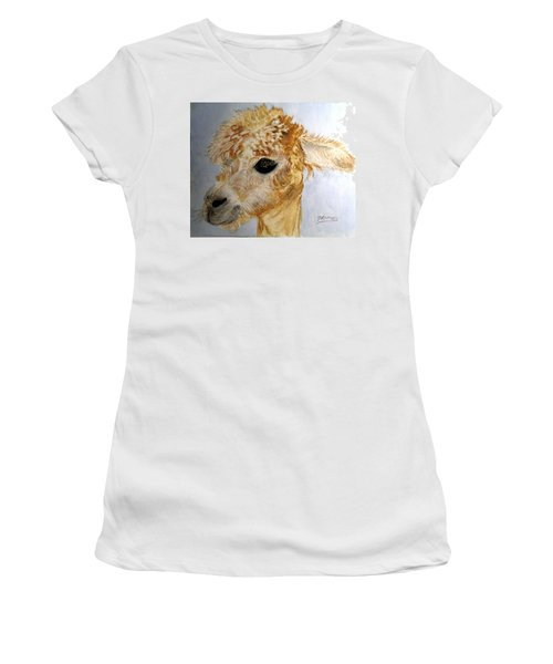 Alpaca Cutie Women's T-Shirt (Athletic Fit)