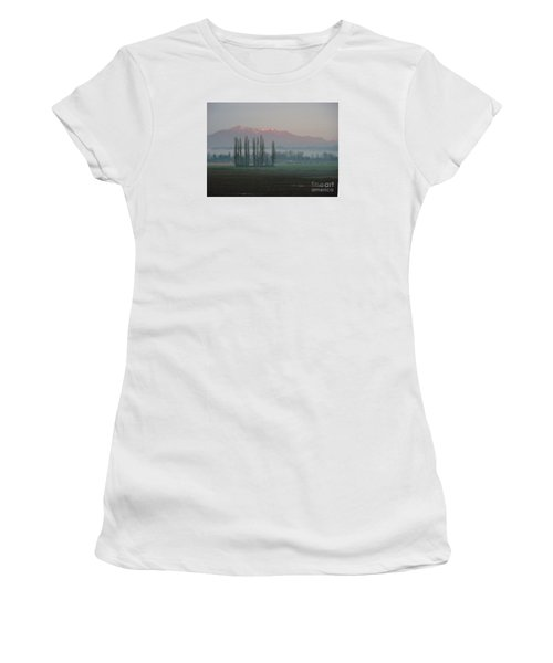 Women's T-Shirt (Junior Cut) featuring the photograph Alpenglow  by Jeanette French