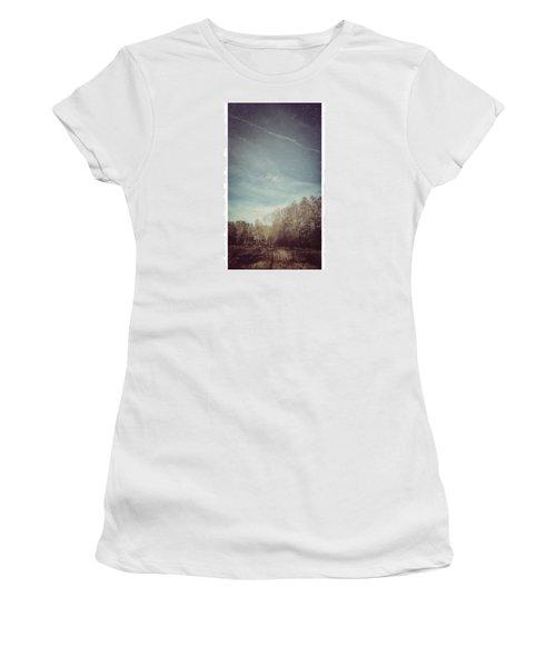 Am Himmel Die Wolken  #wolken #himmel Women's T-Shirt (Athletic Fit)