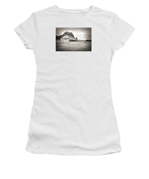 Amana Colonies Farm House Women's T-Shirt (Junior Cut) by Scott Hansen