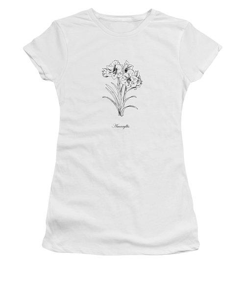 Amaryllis. Botanical Women's T-Shirt