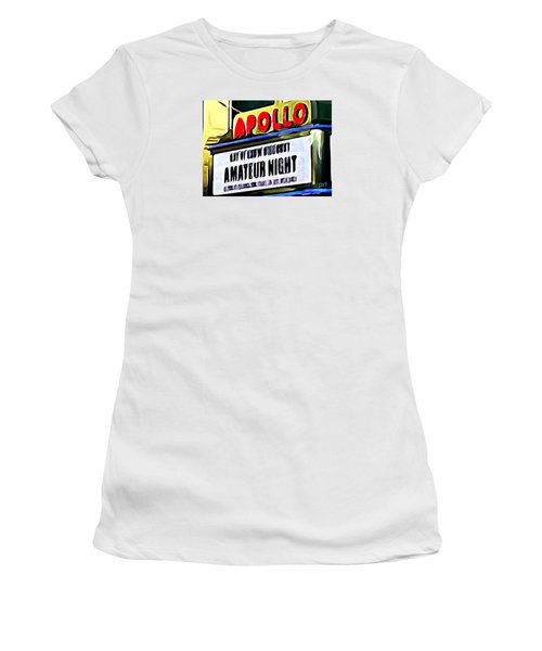 Amateur Night Women's T-Shirt (Junior Cut) by Ed Weidman