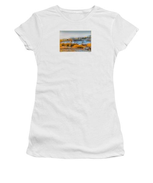 Women's T-Shirt (Junior Cut) featuring the photograph Amber Grass by R Thomas Berner
