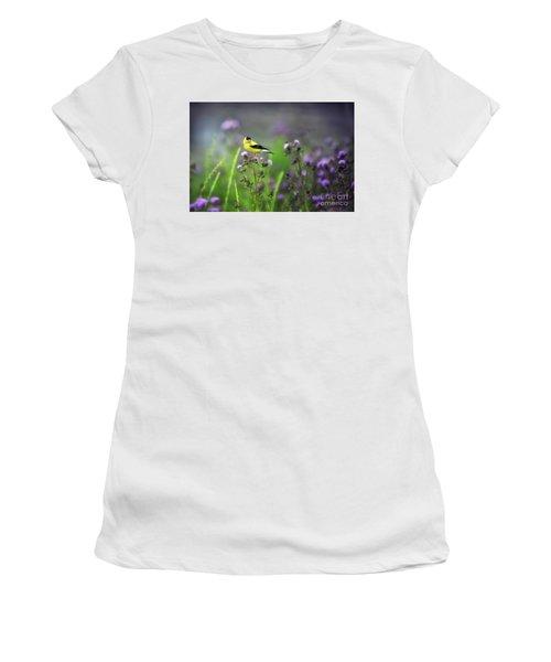 Amercian Goldfinch Women's T-Shirt (Athletic Fit)