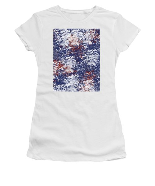 America Watercolor Women's T-Shirt (Junior Cut) by P S