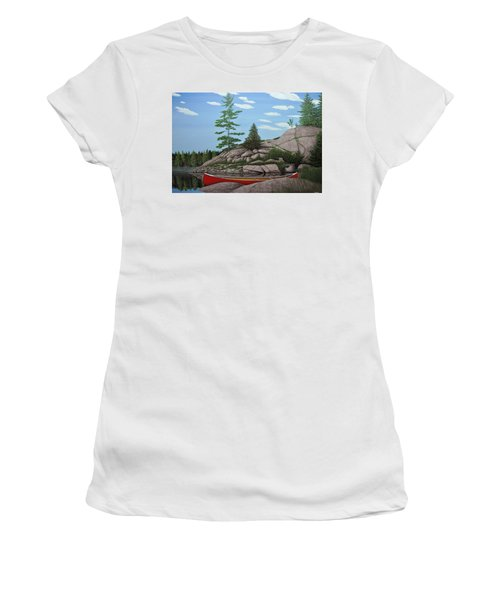 Among The Rocks II Women's T-Shirt (Athletic Fit)