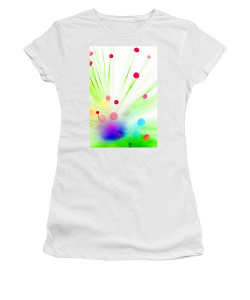 Women's T-Shirt (Junior Cut) featuring the photograph Among The Wildflowers by Dazzle Zazz