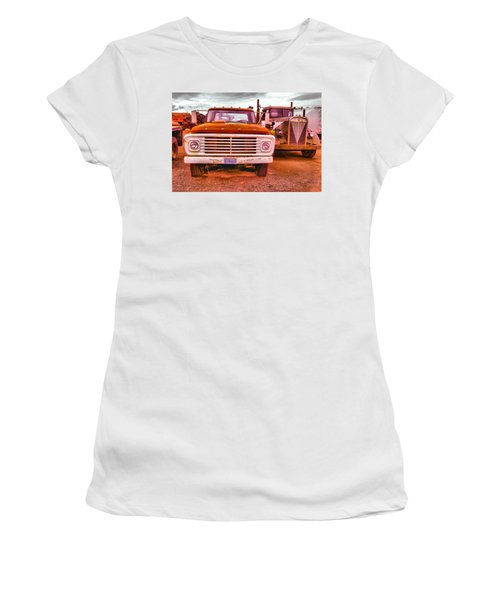 Women's T-Shirt (Junior Cut) featuring the photograph An Old Ford And Kenworth by Jeff Swan