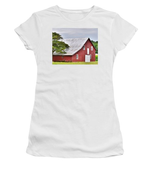An Old Red Barn Women's T-Shirt (Athletic Fit)