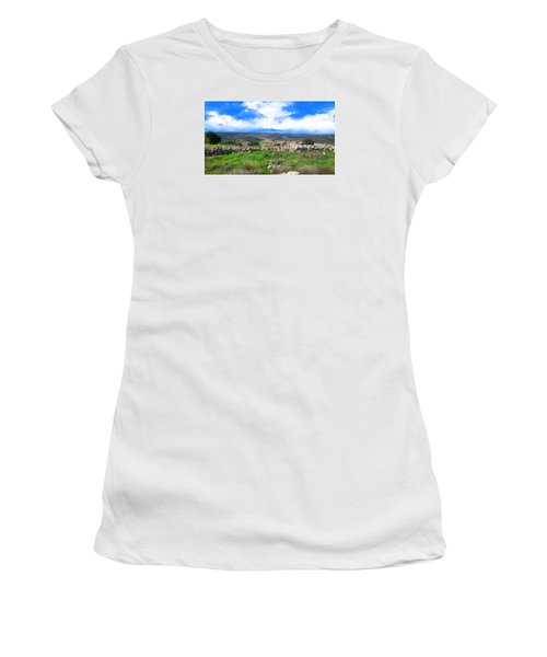 Ancient Ruins In Israel Women's T-Shirt (Athletic Fit)