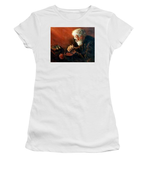 And The Old Man Prayed Women's T-Shirt (Athletic Fit)
