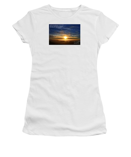 And When Will I Hold You Again Women's T-Shirt (Junior Cut) by Jim Fitzpatrick