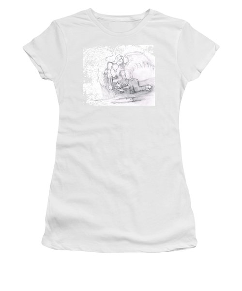 Angel And The Man Women's T-Shirt (Junior Cut) by Dan Twyman