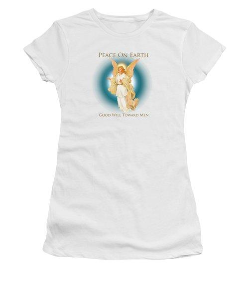 Angel On Blue Women's T-Shirt