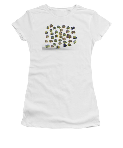 Angels Women's T-Shirt (Junior Cut) by Betsy Knapp