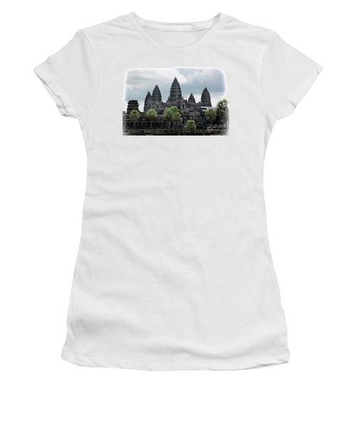 Angkor Wat Focus  Women's T-Shirt (Athletic Fit)