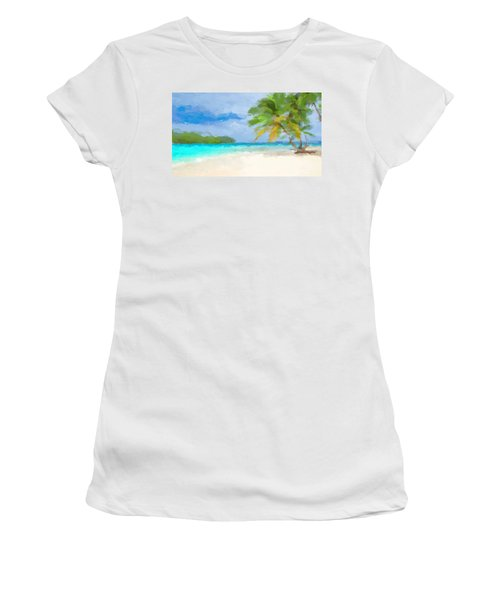 Another Day In Paradise  Women's T-Shirt (Athletic Fit)