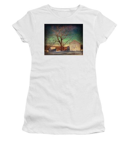 Another Winter Day  Women's T-Shirt (Junior Cut) by Delona Seserman