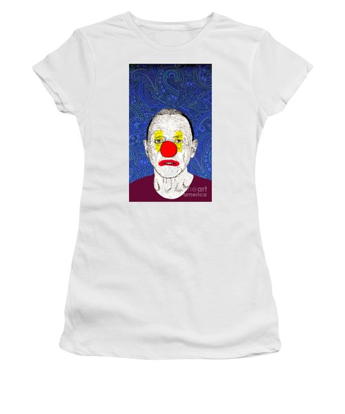 Women's T-Shirt (Junior Cut) featuring the drawing Anthony Hopkins by Jason Tricktop Matthews