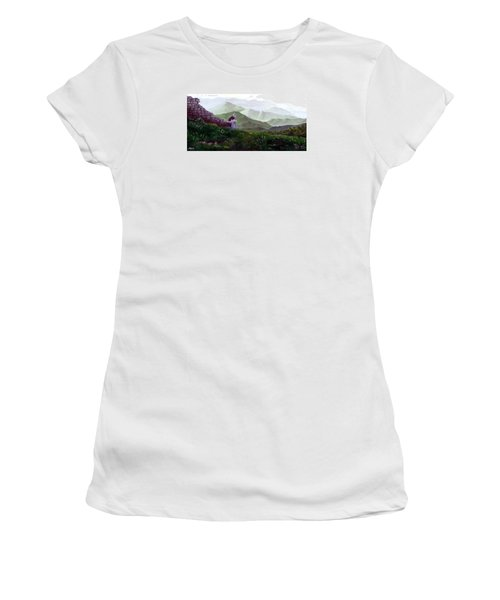 Antonio Atop La Rocca De Monte Calvo Women's T-Shirt (Junior Cut) by Albert Puskaric