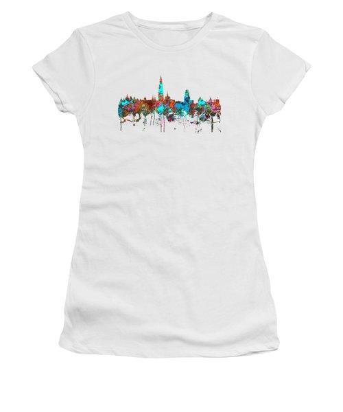 Antwerp Belgium Skyline Women's T-Shirt