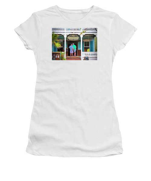 Anybody Home Women's T-Shirt (Athletic Fit)