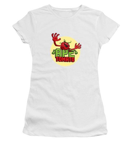 Ape Tomato Women's T-Shirt (Junior Cut) by Nicolas Palmer