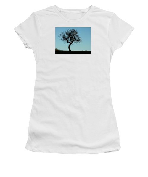 Apple Tree In November Women's T-Shirt (Junior Cut) by Ernst Dittmar