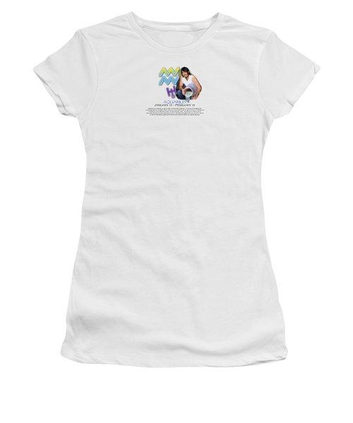 Aquarius Sun Sign Women's T-Shirt (Athletic Fit)