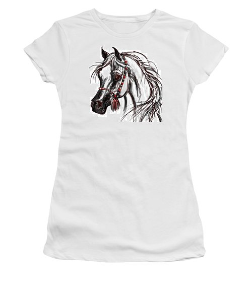 Arabian Horse Women's T-Shirt (Junior Cut) by Stacey Mayer